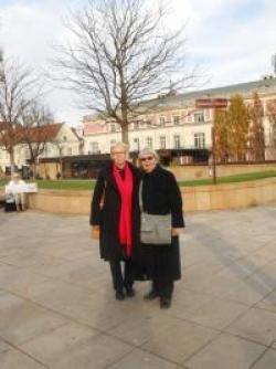 Urszula Nowakowska i pierwsza sponsorka CPK, Debbie Harding z German Marshall Fund. Warszawa, 2012 r.